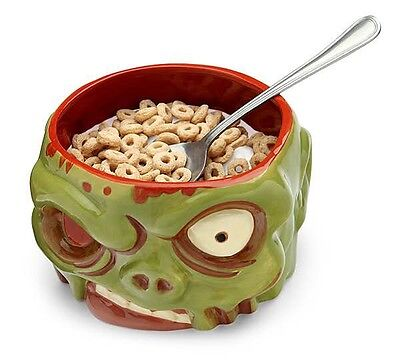 Zombie Undead Head Cereal Candy Bowl Brains Horror Halloween Ghoul Bloody  ()