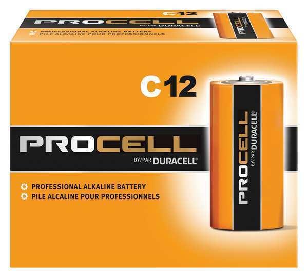 DURACELL PC1400 Procell Alkaline C Battery, 12PK