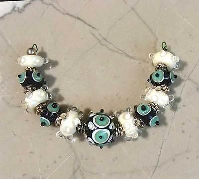 LNT Handmade Lampwork beads - GRACIOUS Nc1830- Artist - Fashion - Jewelry - SRA
