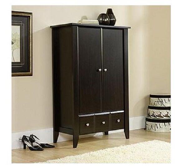 Armoire Wardrobe Bedroom Storage Clothes Closet Wood Cabinet