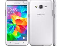 New Unlocked Samsung Glaxy Grand Prime Mobile Phone 4GDual Sim White
