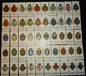 SHIPS BADGES-BRITISH CIGARETTE Cards.Full Set x 50-WD & HO WILLS Wembley Cambridge Area Preview