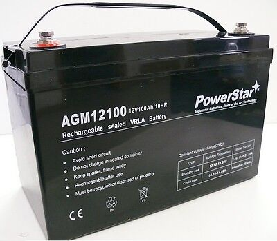 12v 100ah 100 Amp Hour Sealed Agm Rechargeable Deep Cycle