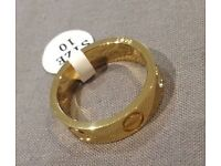 Cartier Inspired Gold Love Ring