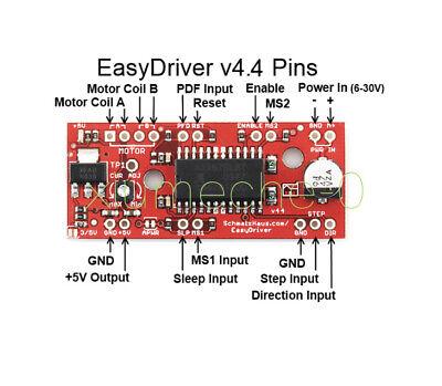 A3967 Easydriver Shield Stepper Motor Driver Module V44 For Arduino 3d Printer M