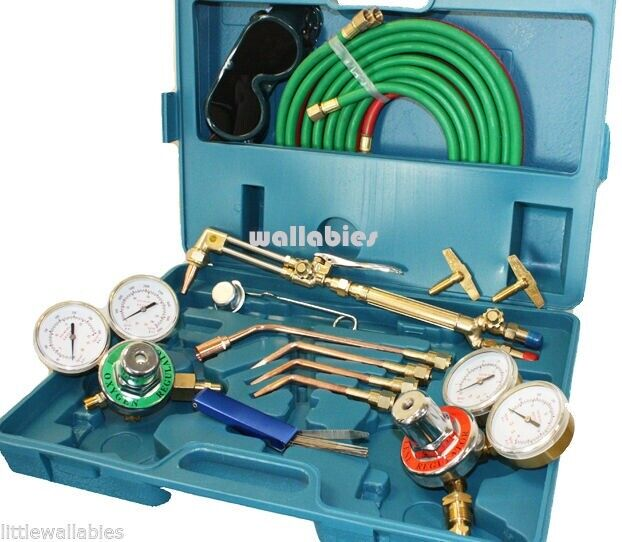 OXYGEN ACETYLENE WELDING TORCH KIT VICTOR COMPARTIBLE