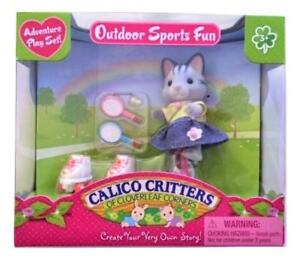 Neuf! Calico Critters Outdoor Sports Fun New!