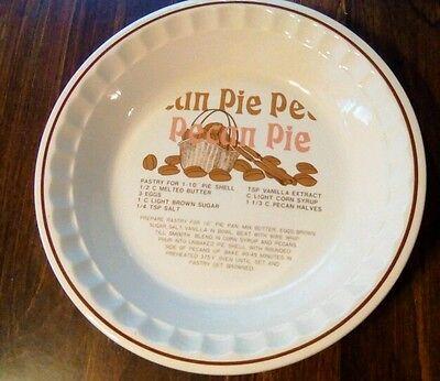 Pecan Pie Baking Plate Bake Pecan Pie
