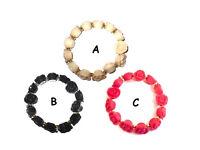 Flower bracelet assorted colours - JTY061