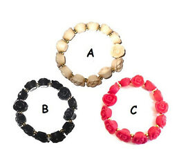 Flower bracelet assorted colours - JTY161