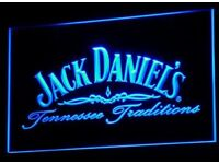 Father's Day gifts. 3D neon bar/man cave signs. Jack daniels