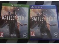 Battlefield 1 - Xbox one and Ps4 £5 each