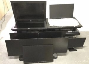 AS-IS 13 ASSORTED MONITORS DIGITAL SIGNAGE TO FIX OR PARTS