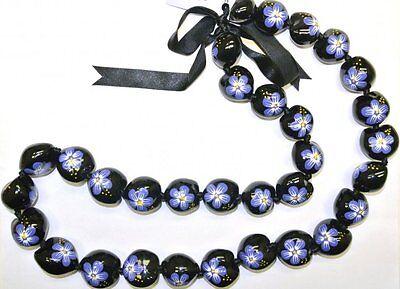 NEW Hawaii Wedding / Graduation Kukui Nut Lei Luau Hula Jewelry Necklace ~ 29003