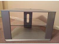 Grey TV corner unit