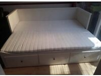 IKEA HEMNES WHITE DAY BED WITH 2 MATTRESSES GREAT CONDITION CAN DELIVER