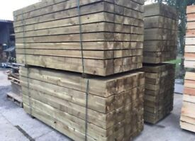 🎯£15 New Tanalised Wooden Railway Sleepers New