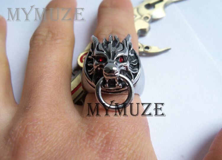Final Fantasy VII 7 Cloud Strife Wolf Head Cosplay Ring US Size 11