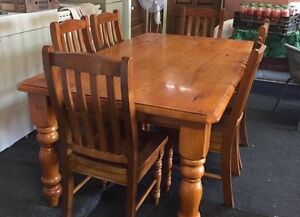 6 Seater Solid Dining Setting Leopold Geelong City Preview