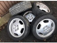 Mercedes A Class alloys with excellent almost new tyres 195 50 15