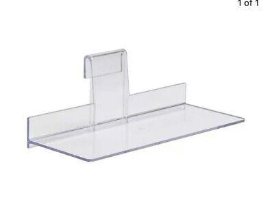 Gridwall Shoe Shelf 4 X 10 Display Flat Styrene Clear Acrylic - 10 Pcs