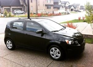 Black 2015 Chevrolet Sonic Hatchback - Low KM, Great Condition