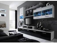 CamaTop quality LOGO II Vertical wall cabinet unit storage high gloss front, BNIB, lounge, bathroom