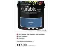 Paint electric blue wilkos 2.5l RRP £16