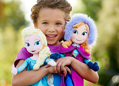 Kids Frozen Toys Elsa Anna Plush Puppe Stoffpuppe Plüsch Doll Christmas for Gift