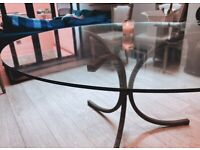 Large Antique Glass Table