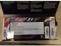Silverstone F1 Formula 1 General Admission (Friday, Saturday, Sunday)