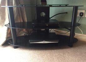 TV Stand (Black Glass)