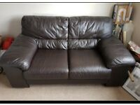Beautiful chocolate brown leather sofas can deliver