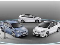 PCO Hybrid Cars to rent or hire Toyota Prius