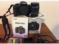 Canon EOS 600D 18.0MP DSLR Kit w/ EF-S18-55 Lens HARDLY USED, MINT CONDITION