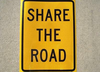 Real Share The Road Street Traffic Sign