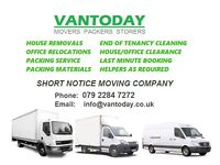 MAN AND VAN HIRE LONDON HOUSE REMOVALS OFFICE MOVING COURIERS DELIVERY MAN WITH VAN LONDON PIANO
