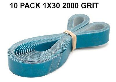 1x30 - 2000 Grit 10 Pack - Aluminum Oxide Very Fine Sanding Sharpening Belts