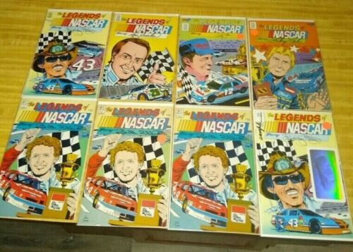 THE LEGENDS OF NASCAR LOT (OF 14) 1990 13 BOOKS TOTAL NM- CONDITION