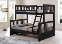 Hardwood Single / Double- Duncan - Espresso- by Bunk Beds Canada