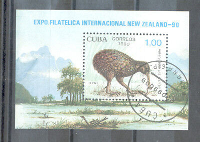 Cuba - Souvenir Sheet of Stamp Year 1990 used (cto) EXPO New Zealand 90
