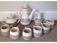 GENUINE CAJAMARCA TEA/COFFEE SET. POT JUG BOWL 6X CUPS MADE IN PERU CERAMIC