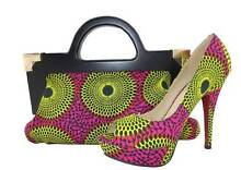 AFRICAN FABRIC PRINT BAGS & SHOES Nambour Maroochydore Area Preview