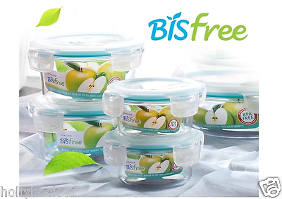 Lock /& Lock Bisfree Tabletop Cooked Food /& Rice Container 6 Set Dome+Steam Hole