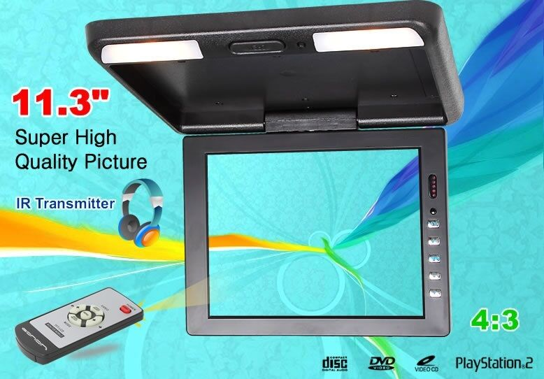 11.3 Inch TFT LCD Roof Overhead Flip Car Monitor with IR Transmitter Dome Light