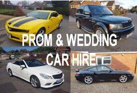 Prom & Wedding Car Hire, Porsche, Transformers Bumblebee Camaro, Range Rover