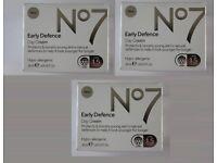 3x No7 Early Defence Day Cream - SPF 15 - 50ml - Hypo-Allergenic