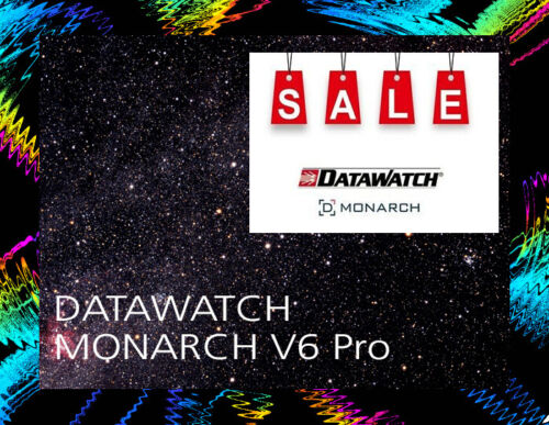 Monarch V 6 PRO Datawatch / Software / For Windows / Disc / New
