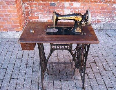 Singer Nähmaschine funktionstüchtig Gussgestell 1880 Nähmaschinengestell