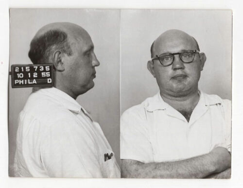 Daniel Taub - Overlord of Philly Crime Ruled Gambling - 1955 Philly PD Mugshot